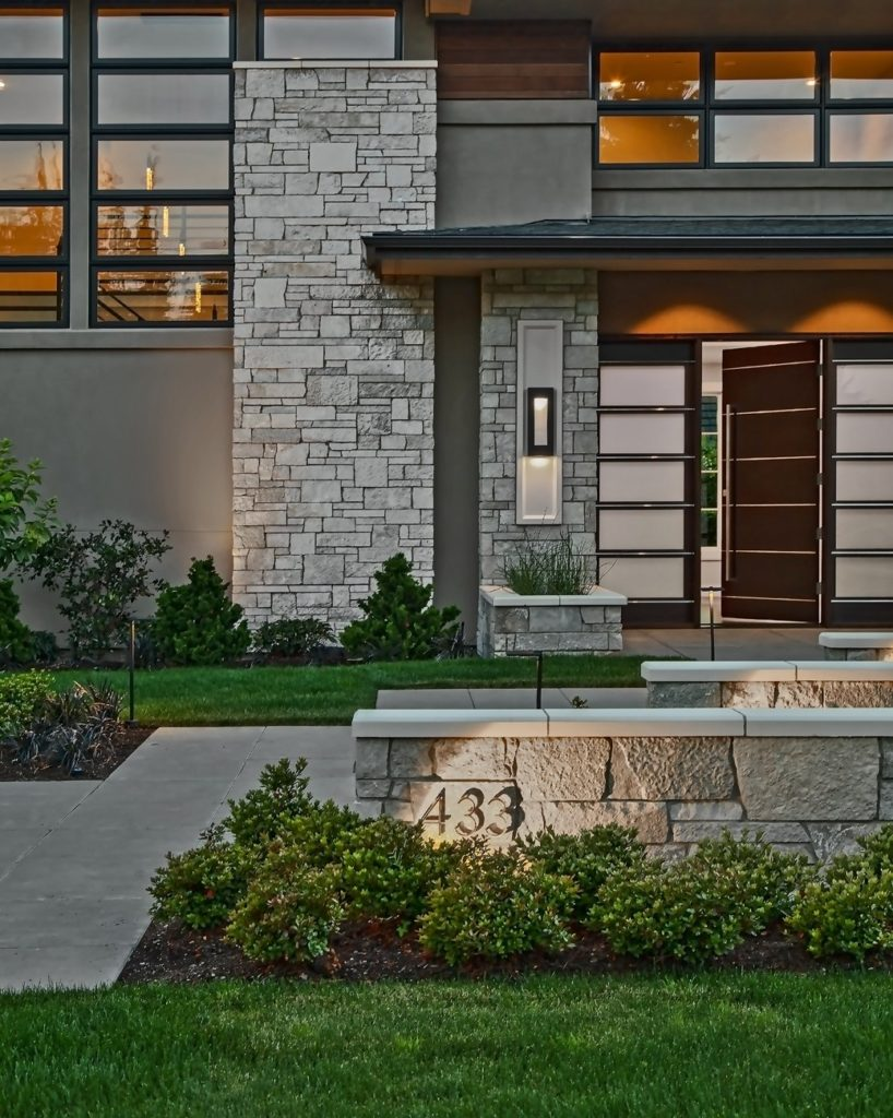 Medina Heights Custom Home Front Entry Front Entry
