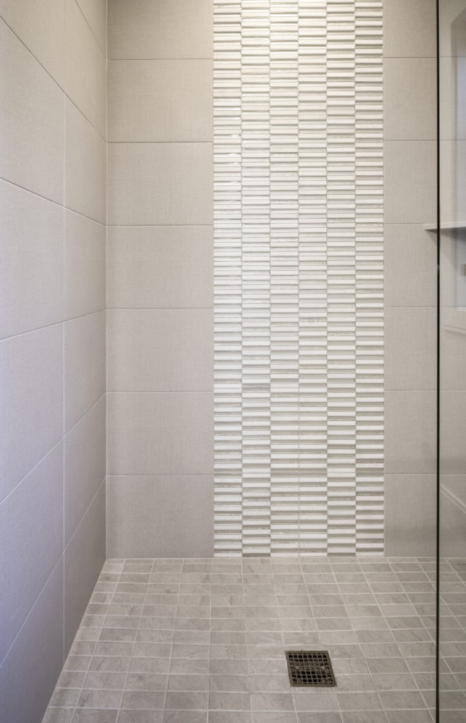 Medina Heights Custom Home Glass Shower Tile