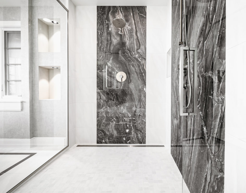 Medina Heights Custom Home Luxury Shower